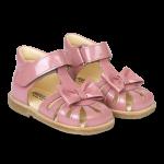 Begynder sandal med sløjfe og velcro lukning