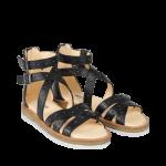 Sandal med nitter og lynlås