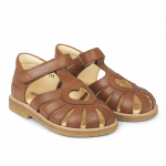 Hjerte sandal med velcrolukning