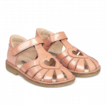 Hjerte sandal med justerbar velcrolukning