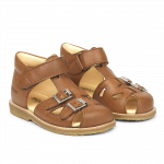 Starter sandal with velcro and buckles