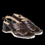 Sandal med blok hæl