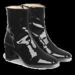 Støvlet på blokhæl med lynlås