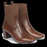 Støvlet på blokhæl med elastik