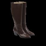 Langskaftet støvle med hæl