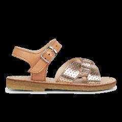 Sandal med justerbare spænder