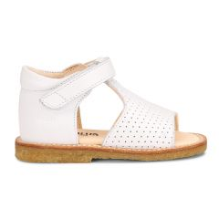 Begynder sandal med åben tå og velcrolukning