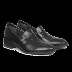 Klassisk loafer med blød hælkappe