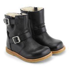 TEX-støvle med spænde og lynlås