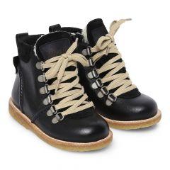 TEX-støvle med snøre og lynlås