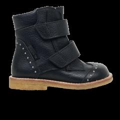 TEX-støvle med velcro og nitter