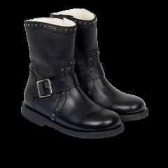 TEX-støvle med nitter og lynlås