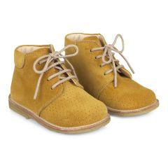 Begynder støvle med snøre og hulmønster