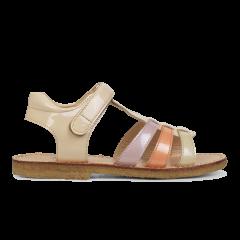 Sandal med T-rem og velcrolukning