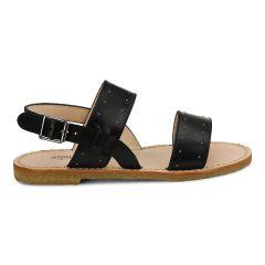 Sandal med spænde og nitter