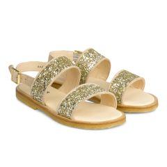 Sandal med spænde og glitter
