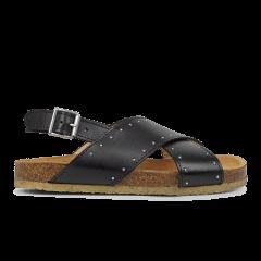 Sandal med blød fodseng og nitter
