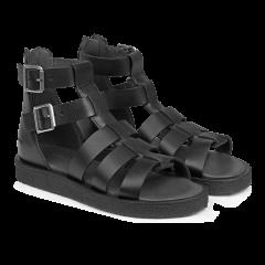 Sandal med lyn og spændelukning