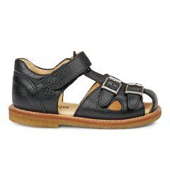 Sandal med justerbar velcro og spænder