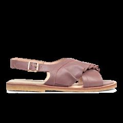 Sandal med flæse