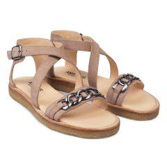 Sandal med kæde og spænde