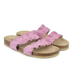 Sandal med fodseng og flæse
