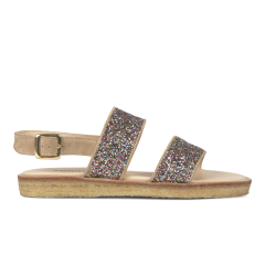 Sandal med spænde på plateausål