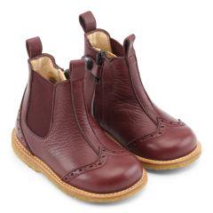 Begynder støvlet med elastik og lynlås