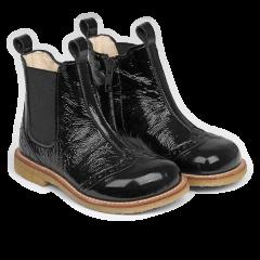 Støvlet med elastik og lynlås