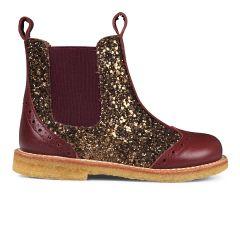 Chelsea støvle med hulmønster og lynlås