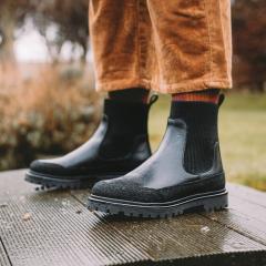 Støvlet med elastik og track-sål