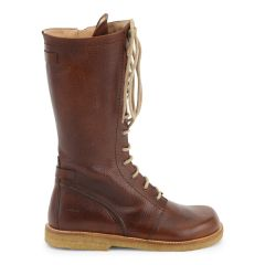 Støvle med lynlås og snøre