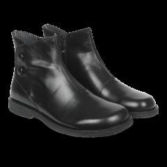 Klassisk støvlet m. lynlås, velcro og knapdetalje
