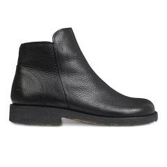 Støvle med lynlås, uldfoet og wide fit