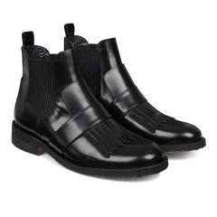 Moderne støvlet m. frynsedetalje