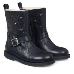TEX-Støvle med stjerner og lynlås