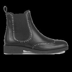 Chelsea støvle med elastik og nittedetalje