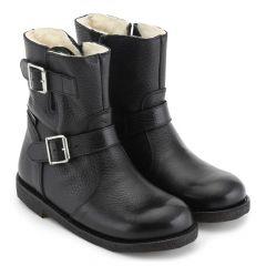 TEX-støvle med spænder og lynlås