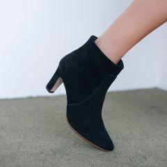 Støvlet hæl med lynlås