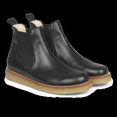 Støvle med elastik.