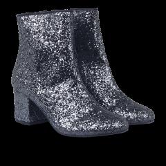 Støvlet m. blokhæl i glitter.