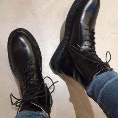 Snørestøvle med lynlås