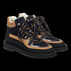 Snørestøvle med uldfoer