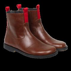 Støvle med lynlås og bred pasform