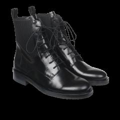 Støvle med snører og elastik